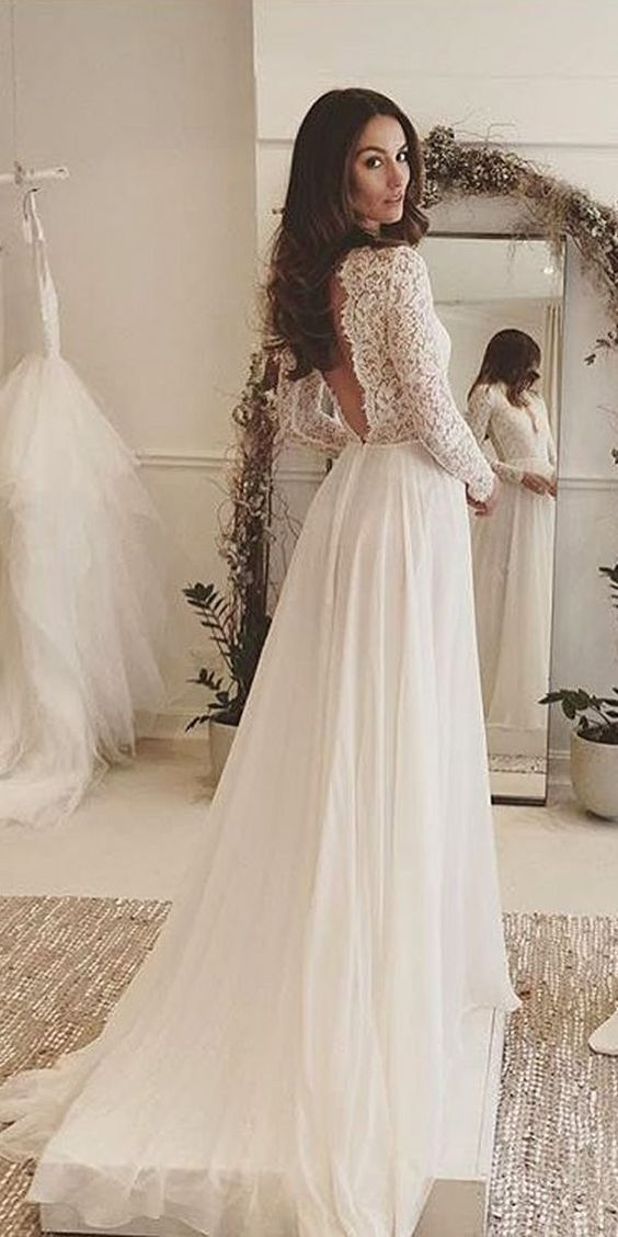 New arrival wedding dressdeep v neck sweep train lace backless new arrival wedding dressdeep v neck sweep train lace backless wedding dress with junglespirit Gallery