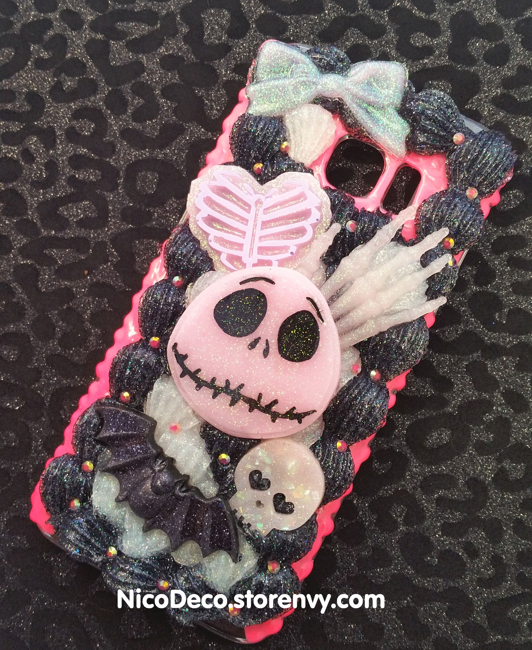 Nightmare before Christmas Halloween decoden cell phone case for ...