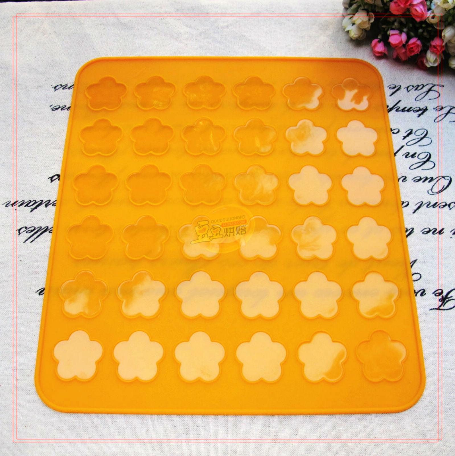 Macaroon Silicone 28 5x26 Plum Flower Baking Mat Cookies
