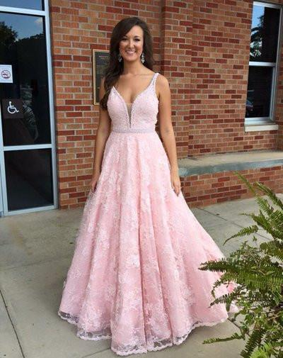 A-line Prom Dresses,V-neck Prom Dress,Sweetheart Prom Dress,Charming ...