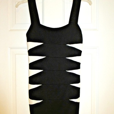 Bodycon black & white dress