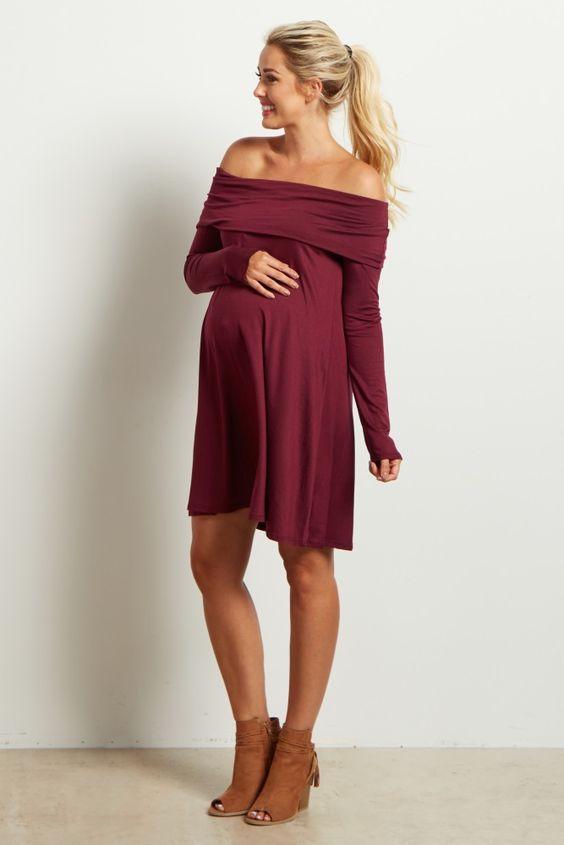 D271 Long Pregnant Loaded,Chiffon Pregnant Woman Dresses,Off the ...