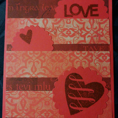 love and hearts valentines day card