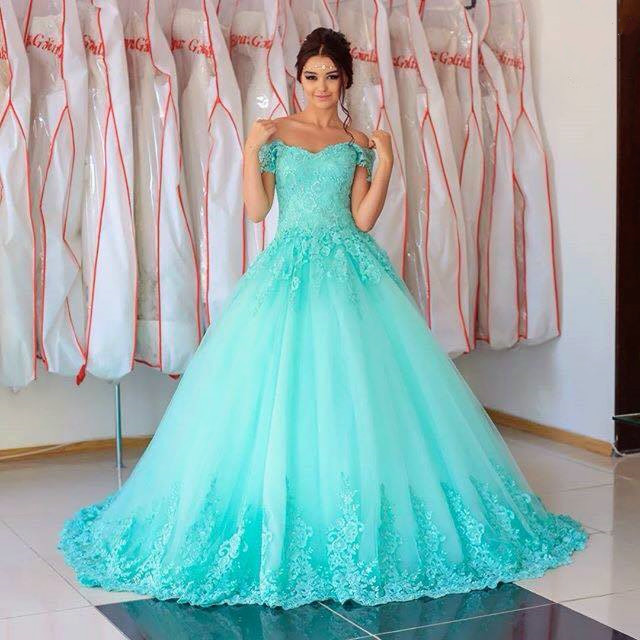 Tulle Ball Gown Prom Dress,Elegant Quinceanera Dresses,Formal ...