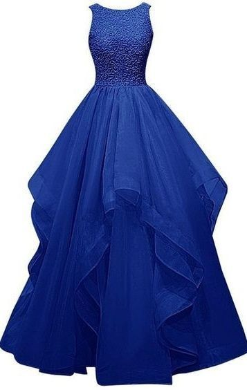 New Style Royal Blue Charming Long Burgundy Prom Dresses,Ball Gown ...