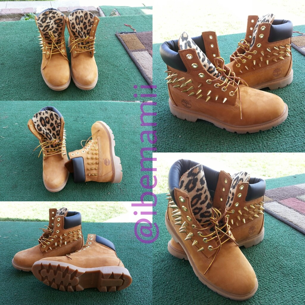 Customized Timberlands With Spikes Hand Customized Timberland