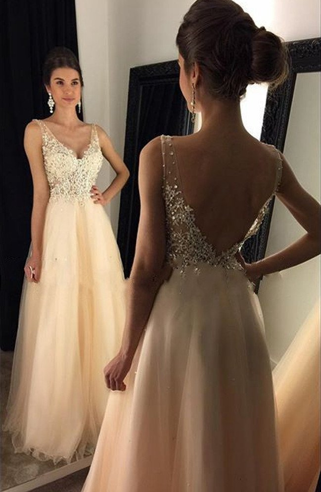 Amazing Prom Dress V Neckline, Graduation Party Dresses, Formal ...