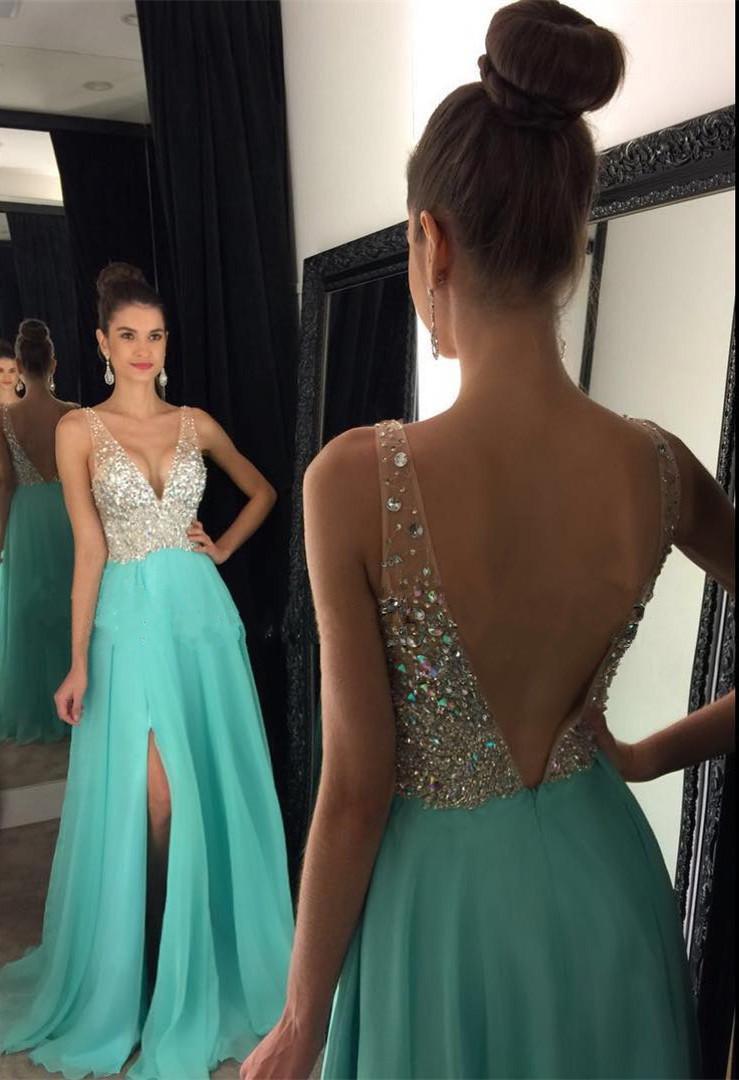 prom dresses open leg