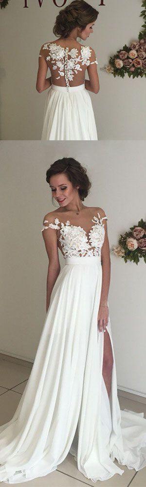 Appliques Prom Dress,New-arrival Prom Dress,2017 Prom Dress,White ...