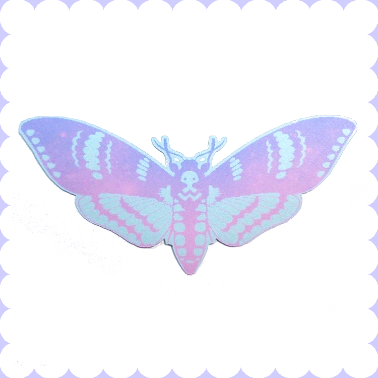 Pastel death moth sticker