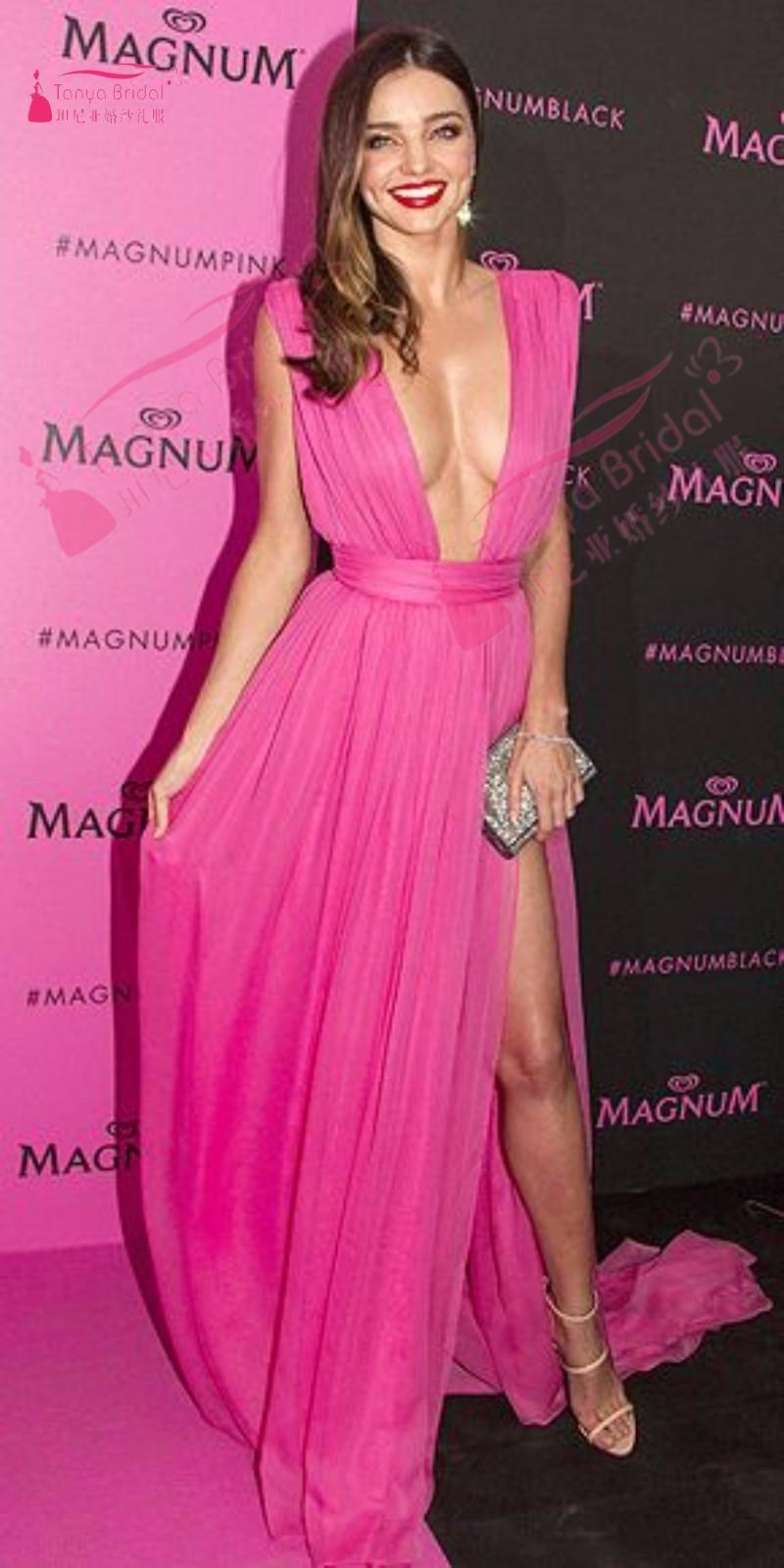 Sexy Inspired by Miranda Kerr V Neck Chiffon Long Evening Prom ...