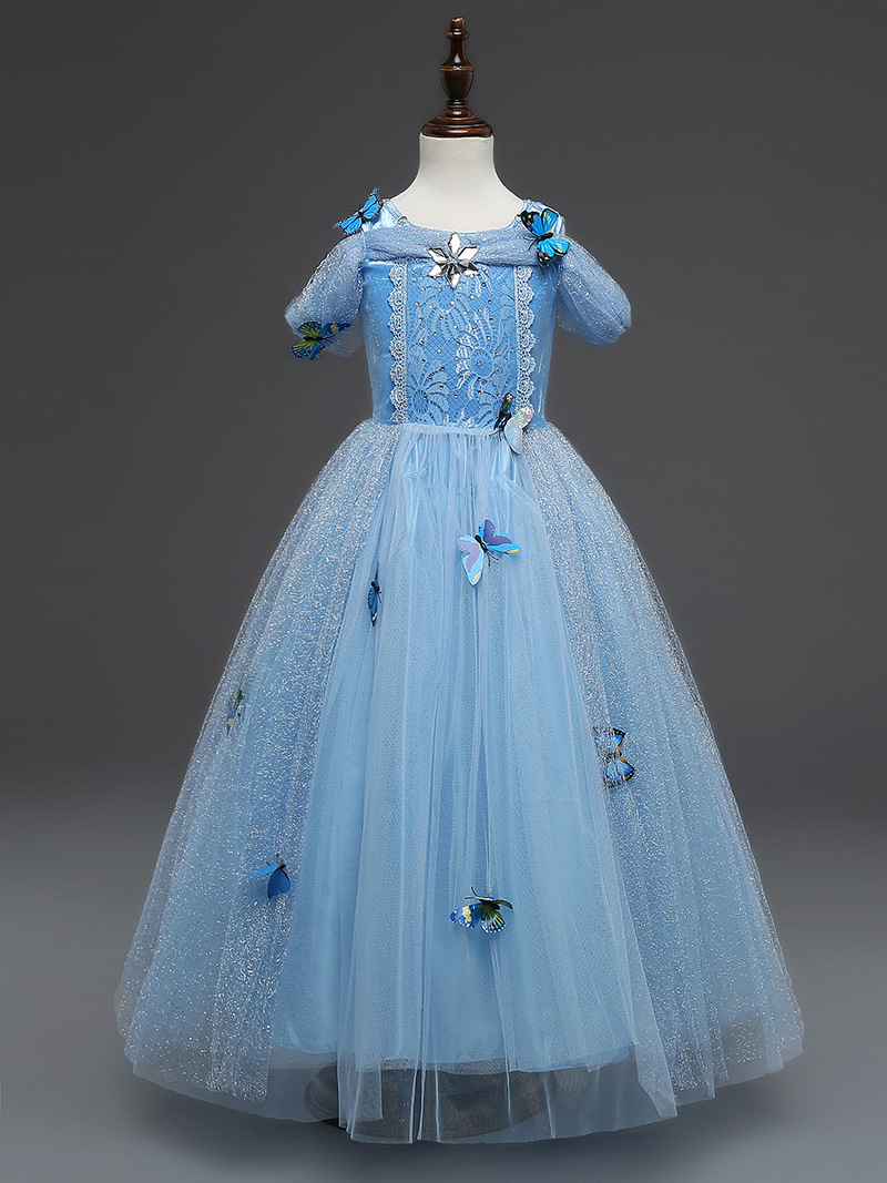 Kids Girls Princess Party Dresses, Cosplay Girls Rose Fancy Dress ...