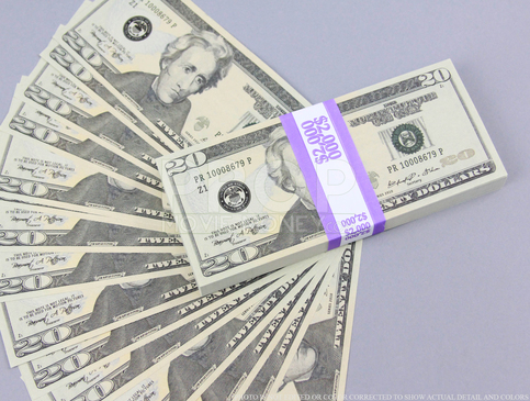 Prop Money New Style 20 Dollars Full Print Stack For