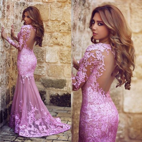 Solo dress charming appliques mermaid tulle sexy prom for Custom made wedding dresses nyc