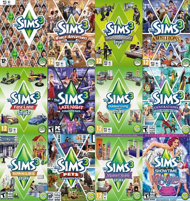 The sims 3 complete collection bundle set includes 20 for Case the sims 3 arredate