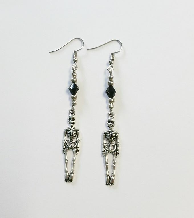 skeleton drop earrings 183 pollypop boutique 183 store