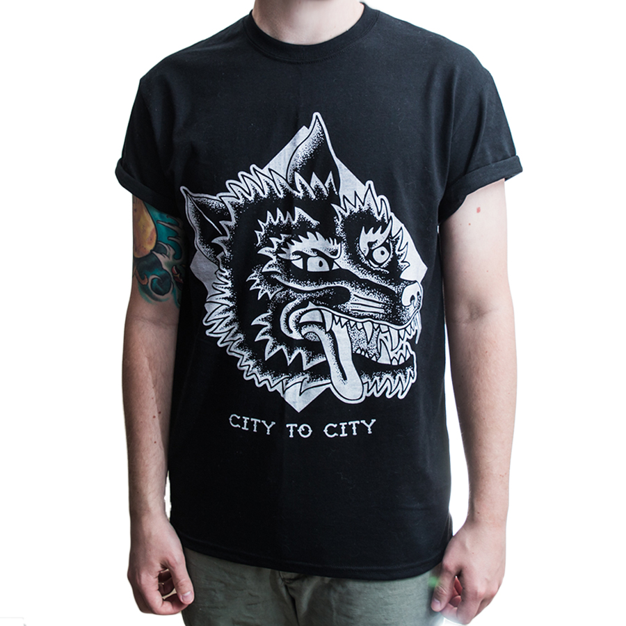 traditional wolf t shirt city to city apparel online. Black Bedroom Furniture Sets. Home Design Ideas