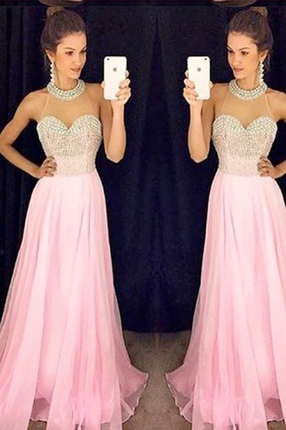 Pink Color Prom Dress, Graduation Party Dresses, Prom Dresses For ...