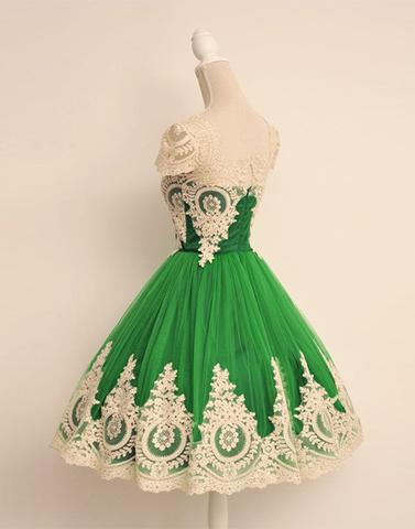 2017 prom dresses,Cute prom dresses,Green prom dresses,lace prom ...