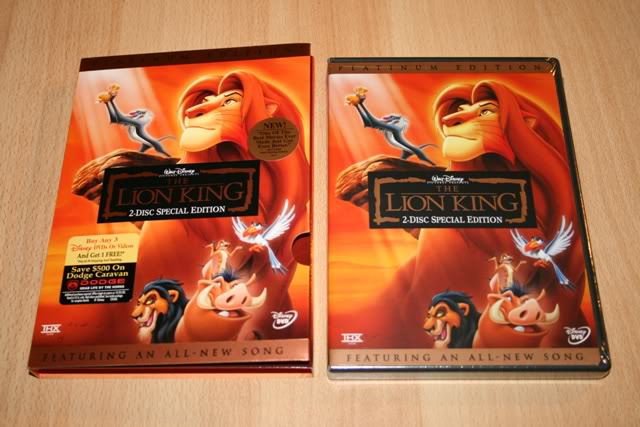 Lion king platinum edition dvd something is