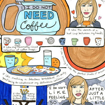 Next year's girl - i don't need coffee print