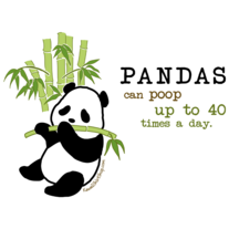 Unisex T-Shirt - Kawaii Pandas Can Poop