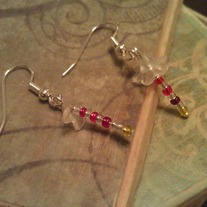 Red Spring Flower Earrings