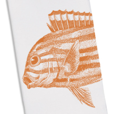 Floursack towel- orange fish