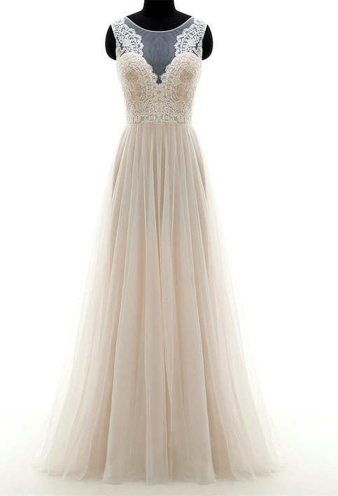 High quality french lace champagne vintage summer wedding for Vintage wedding dresses san diego