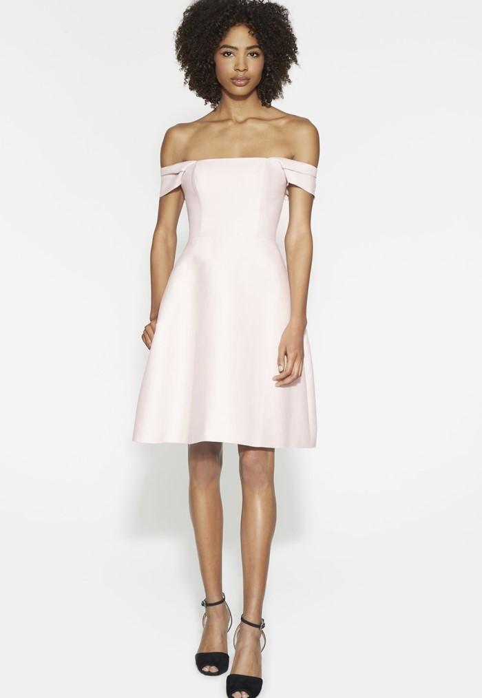 U0025, off-shoulder homecoming dresses, babypink, A-line, open back ...
