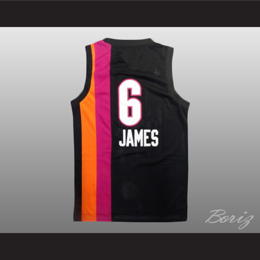 Lebron James 6 Old School Floridians Basketball Jersey New