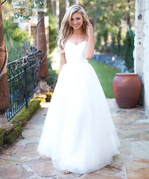 White Wedding Dresses,Simple Wedding Dress,Cheap Wedding ...