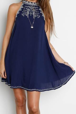 Cheap Navy Blue Formal Dress