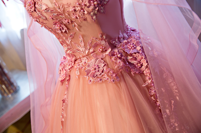 Luxury Appliqued Puffy Long Prom Dress,Princess Ball Gown Prom ...