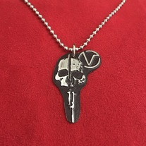 SKULL BAYONET NECKLACE   medium photo