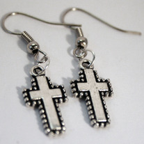 Small Crux Cross Earrings