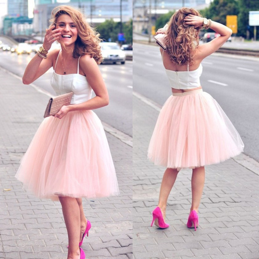 Charmant Short Pink Cocktail Dresses Ideen - Brautkleider Ideen ...