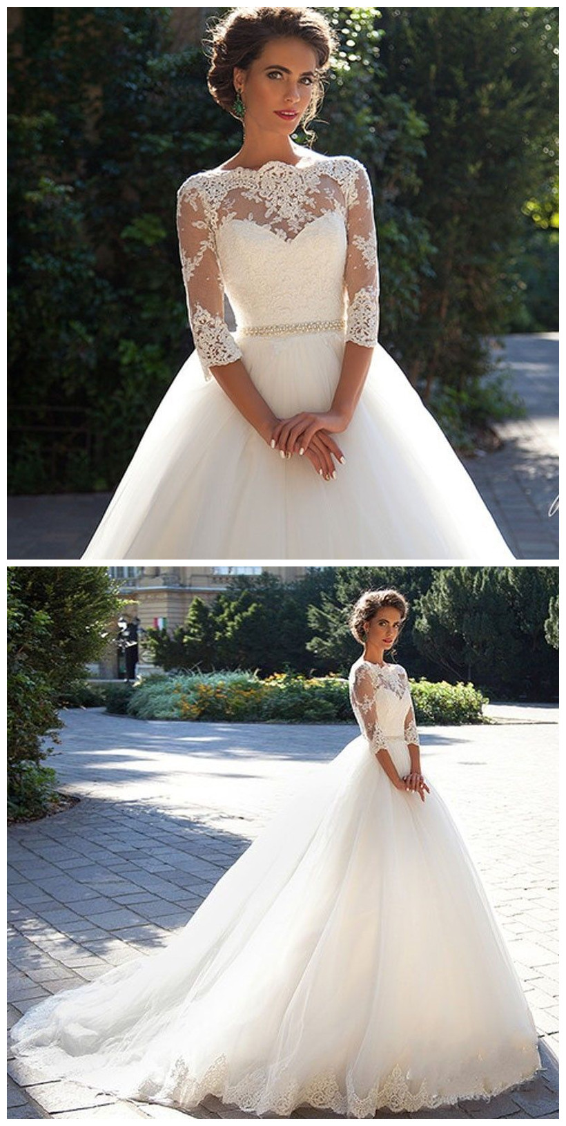 New White/Ivory Wedding Dresse Lace Bridal Gown wedding gowns ...
