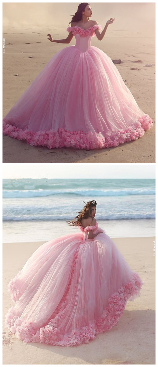 Prom Dress,Princess Pink Ball Gown,Corset Special occasion Dress ...