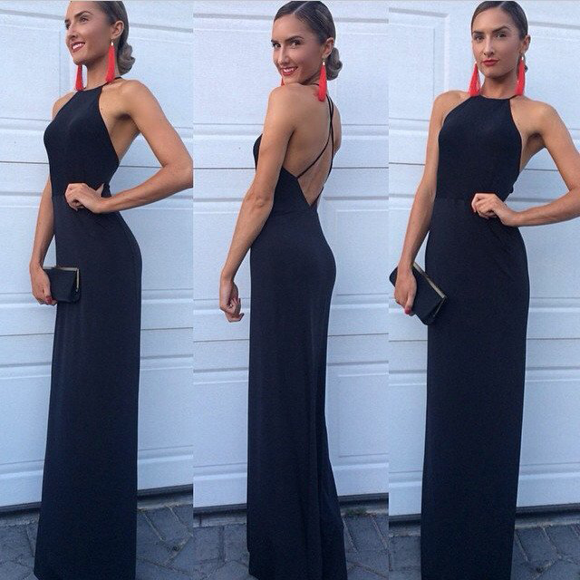 Long Prom Dresses Cheap Jersey Sheath Formal Dresses For Women