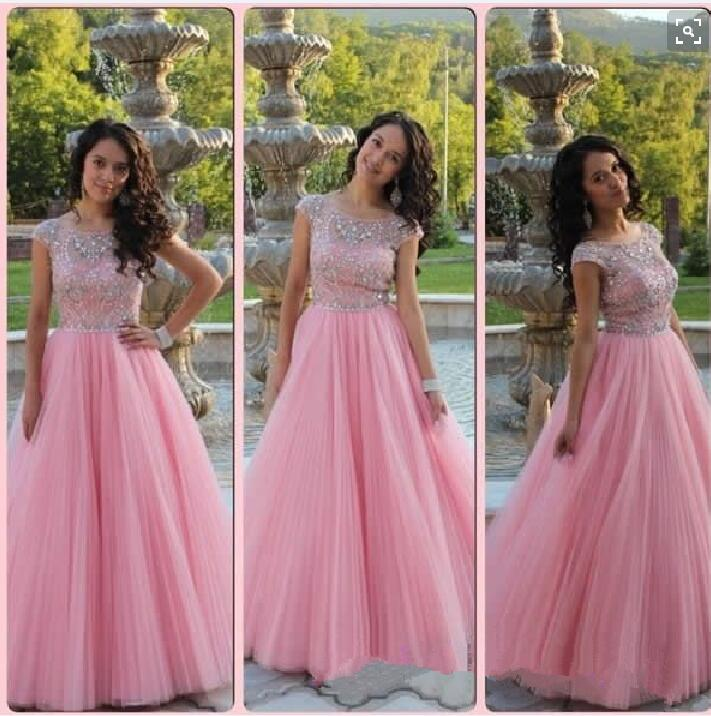prom dresses,tulle evening gowns,pink prom gowns, 2017 evening dress ...