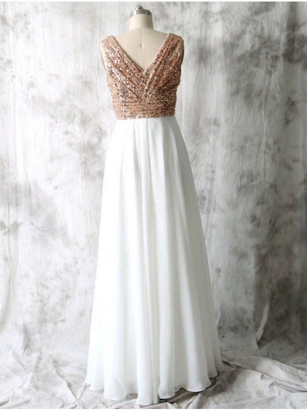 J198 Rose gold bridesmaid dresses, Sequin bridesmaid dresses, long ...