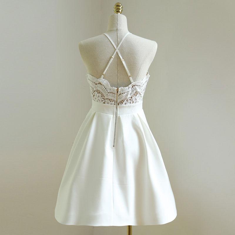 spaghetti strap vneck homecoming dresseslace homecoming