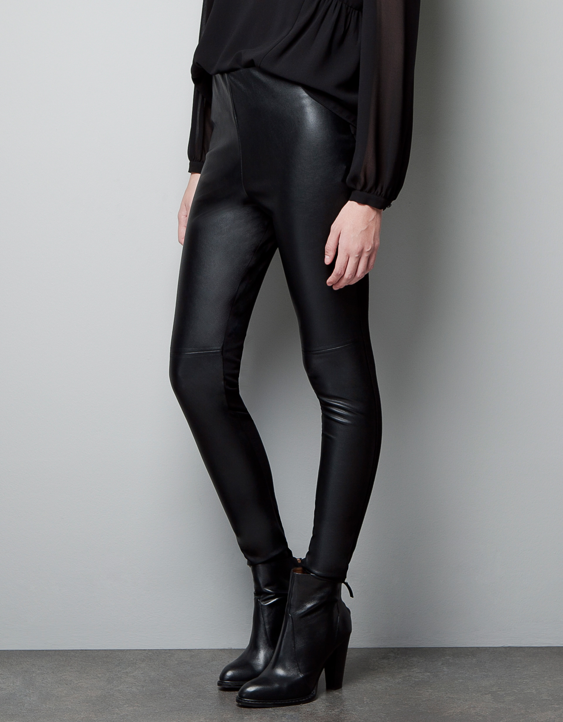 Zara Faux Leather Leggings