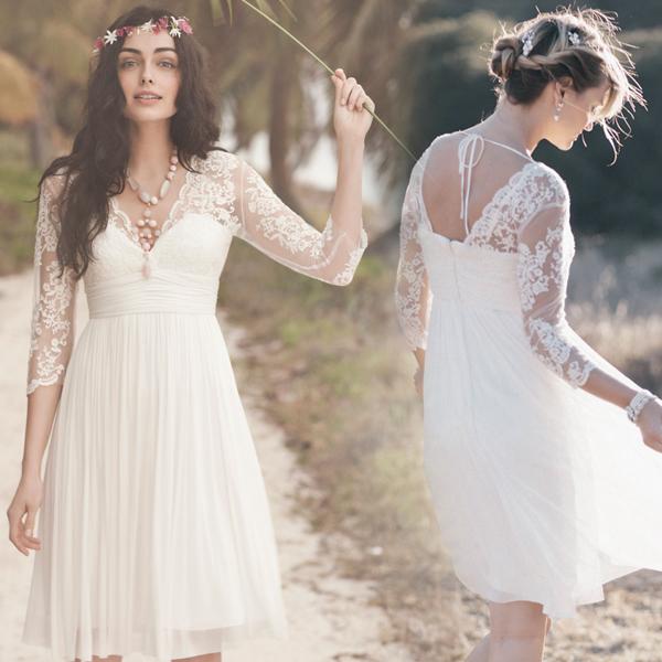 Long sleeve lace white bridesmaid dresswhite short bridesmaid dress long sleeve lace white bridesmaid dresswhite short bridesmaid dress with sleeves thumbnail 1 junglespirit Images