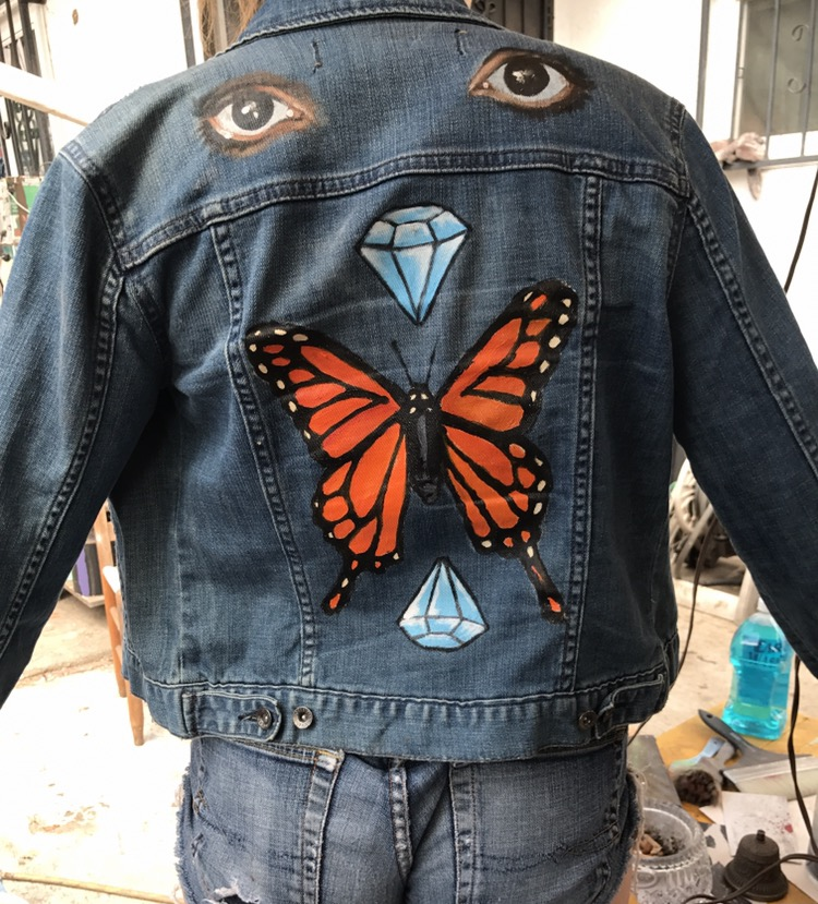 Custom hand painted denim jackets · muckshop · Online ...