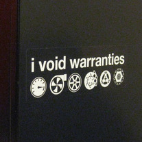 I Void Warranties Sticker - 2 Pack
