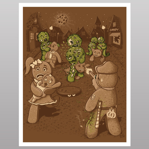 The Walking Bread (print)