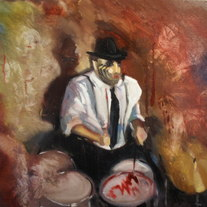 """Junior Drumin Up Spirits"" Painting by Jody Batson"