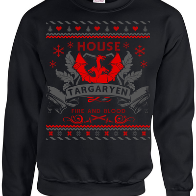 Ugly Christmas Sweater Fire And Blood Game Of Thrones Game Of Thrones Christmas Gift lly2hKtp3